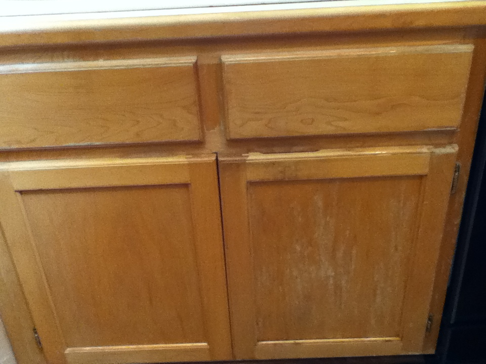 cabinet picture - before restoration